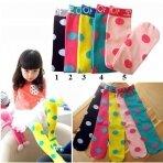 Ryškiaspalvės ilgesnio modeliuko kojinės