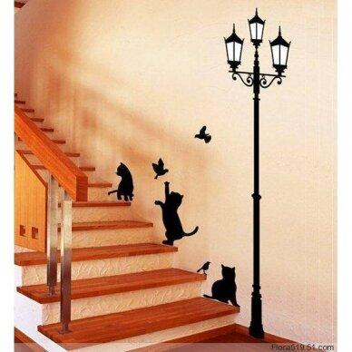 """Sienų lipdukai """"Katinėliai ir žibintas"""""""