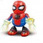 Šokantis Žmogus voras su šviesų projektorium