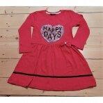 Suknelė su žvyneliais siuvinėtu paveikslėliu Happy days
