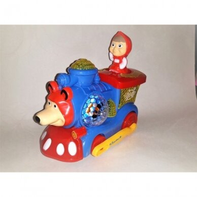 Šviesų traukinukas su Maša