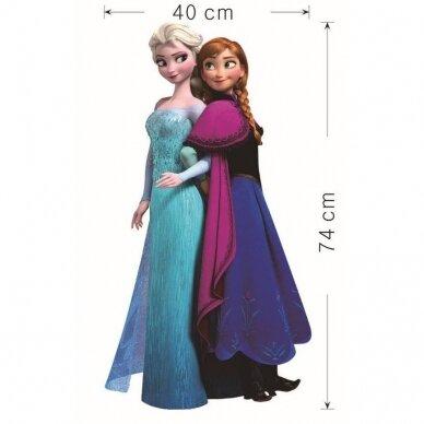 """Vaikų kambario sienų dekoravimo lipdukai """"Frozen sesės"""""""
