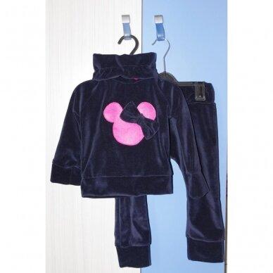 "Veliūrinis 2 d. komplektas ""Minnie Mouse"" (t.mėlynas)"